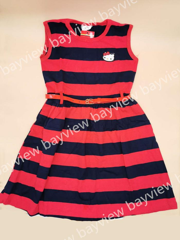 0a99966fcb Dress with belt hellokitty dress girl 5-10 years old
