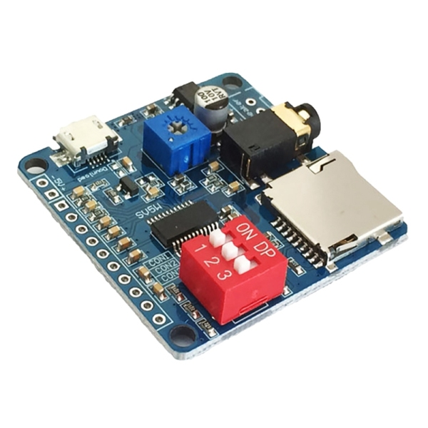 Bảng giá Voice Playback Module Board MP3 Music Player 5W MP3 Playback Serial Control SD/TF Card for Arduino DY-SV5W Phong Vũ