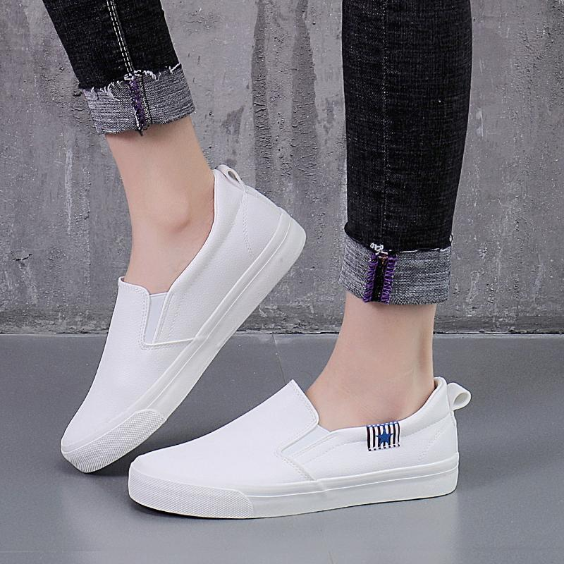 117b97f61b1da7 QQS 2018 new arrival Korean version of a pedal lazy shoes flat with white  shoes