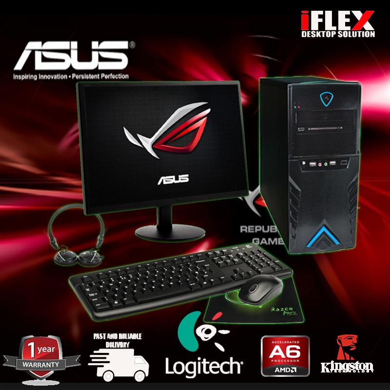 AMD A6-7400k 3 9 GHz Max Turbo 1mb Cache R5 Graphics with ASUS Motherboard  and Logitech keyboard mouse Combo, 4GB 1600 RAM and 500 GB HDD Seagate 19