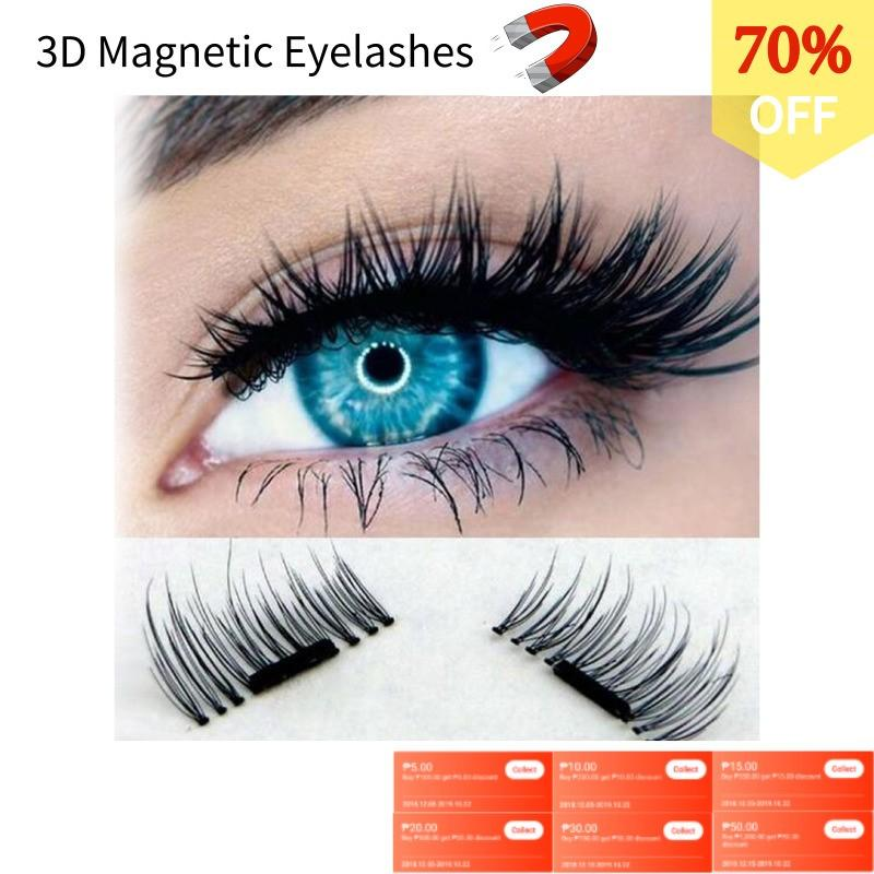 32a88d3647 3D Magnetic Eyelashes Invisible Magnetic Lashes Mink Eyelashes With Tweezer  Magnet Mink Lashes Thick Full Strip