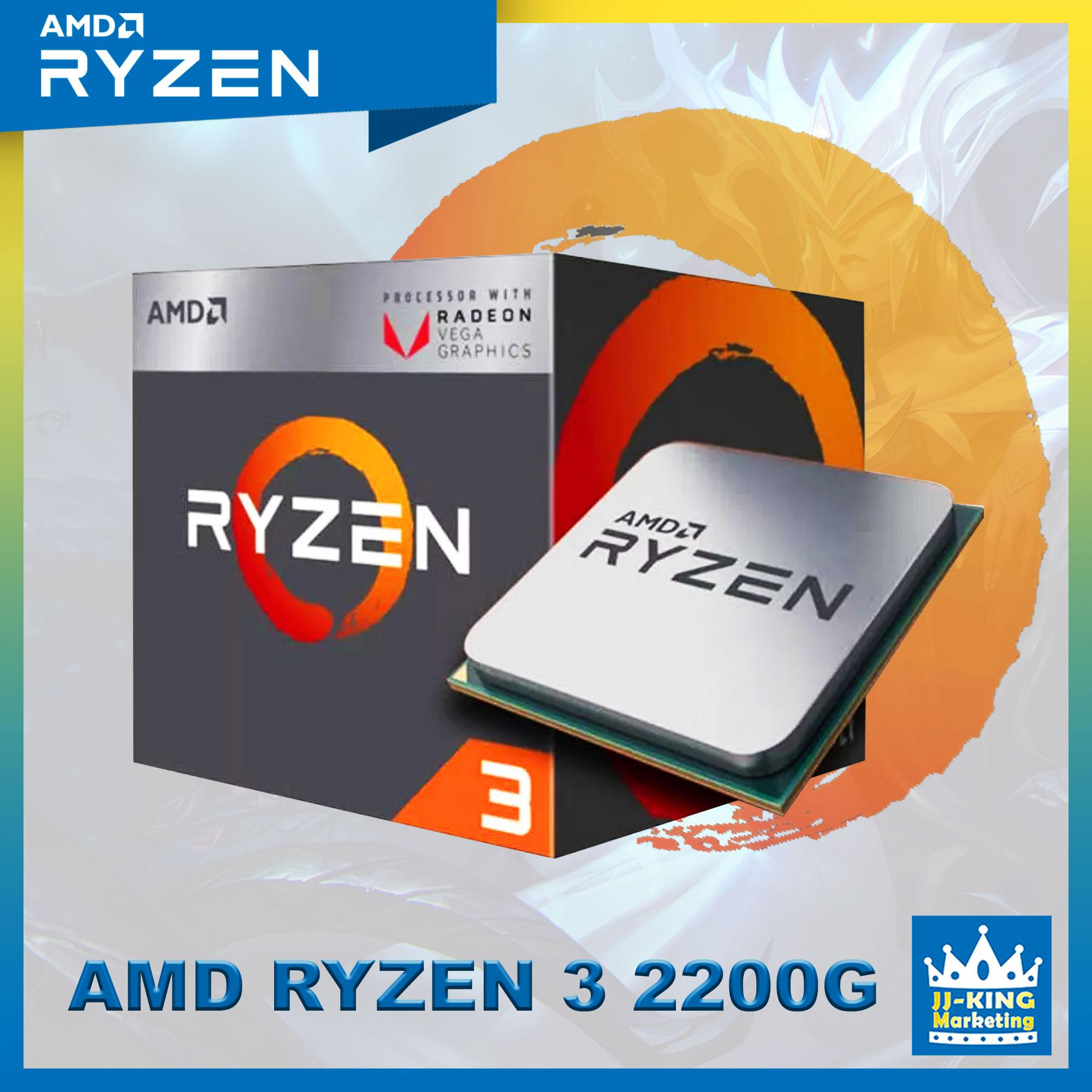 Amd Ryzen 3 2200G Processor Socket Am4 3 5ghz with Radeon Vega 8, Ryzen3  2nd Gen APU, Ryzen 3 2200G Gaming processor