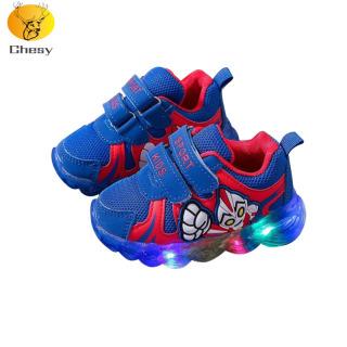 Giày Thể Thao Cho Bé Trai, Giày Thể Thao Nonslip Có Đèn LED Để Chạy Bộ Ngoài Trời thumbnail