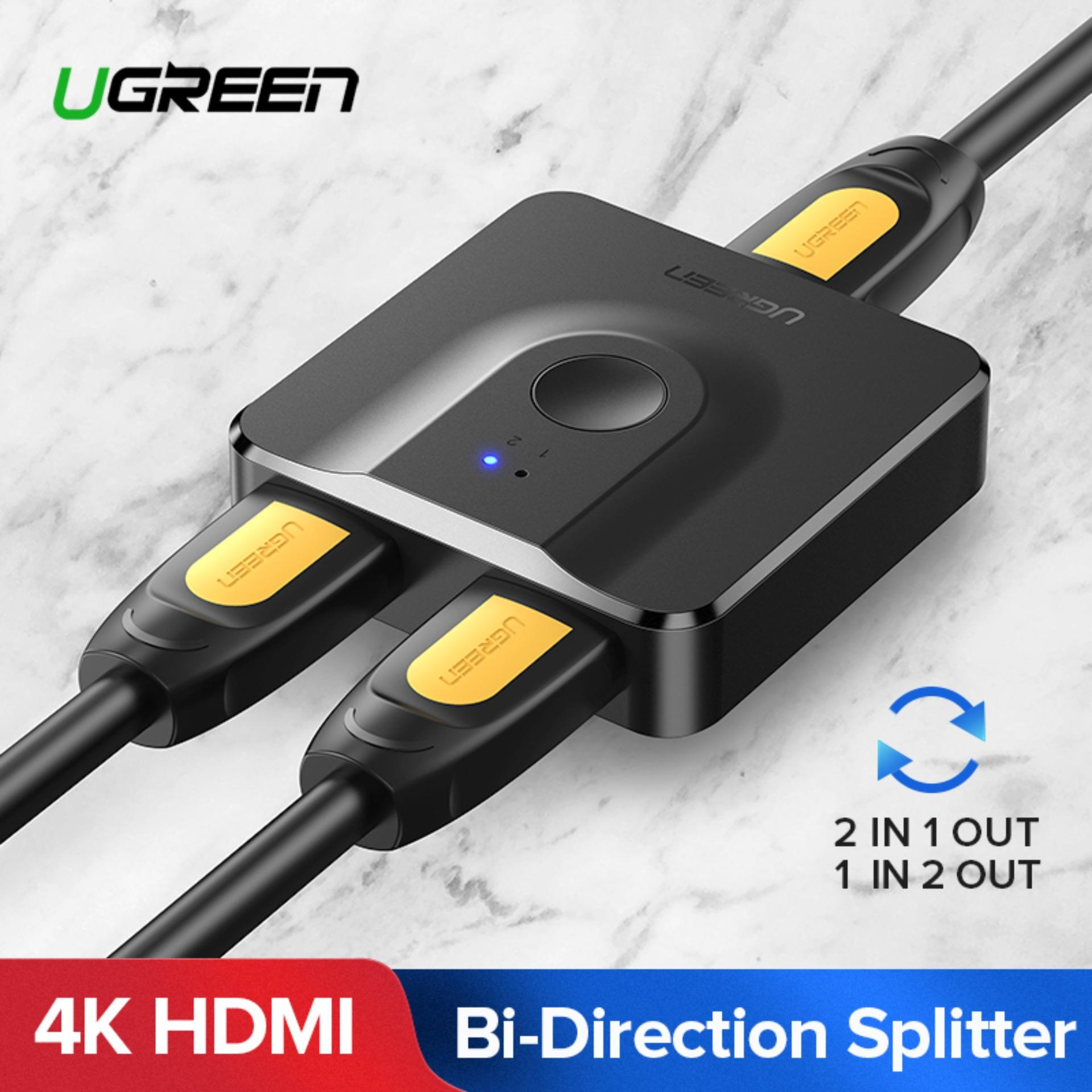UGREEN HDMI Splitter Switch Bi-Direction 4K HDMI Switcher 1x2/2x1 Adapter 2  in 1 out Converter for PS4/3 TV Box-Intl
