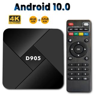 Wisdhome bộ Android Youtube 10.0 4GB 32GB D905 Smart TVBox Android 2.4 4GB Wifi 4K Amlogic S905 Mới- Đầu Phát Media Box thumbnail