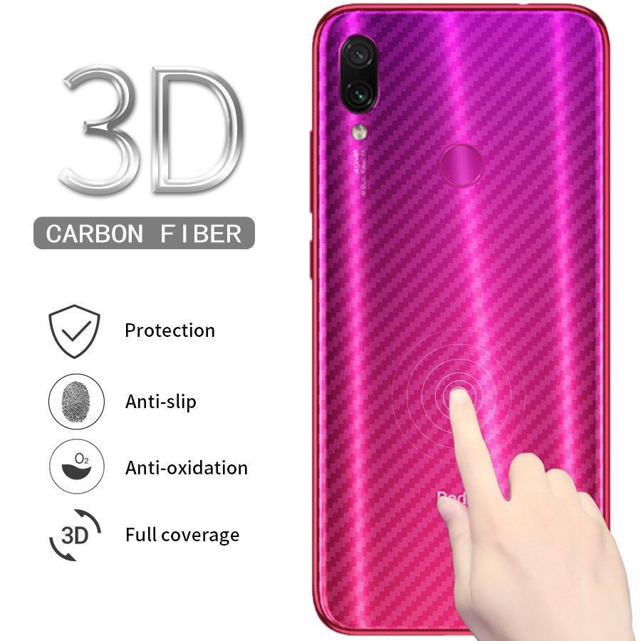 Xiaomi Redmi Note 7 Carbon Fiber Back Screen Protector Film Sticker Full Cover For Mi Note 7 Not Glass By Snowbhel.ph.