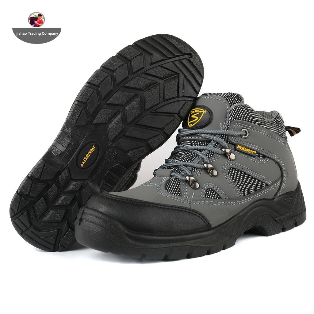 Jms Mens Breathable Steel Toe Cap Work Safety Shoes Men Outdoor Anti-Slip Steel Puncture Proof Construction Safety Boots Shoes-073g By Jiahao General Merchadise.