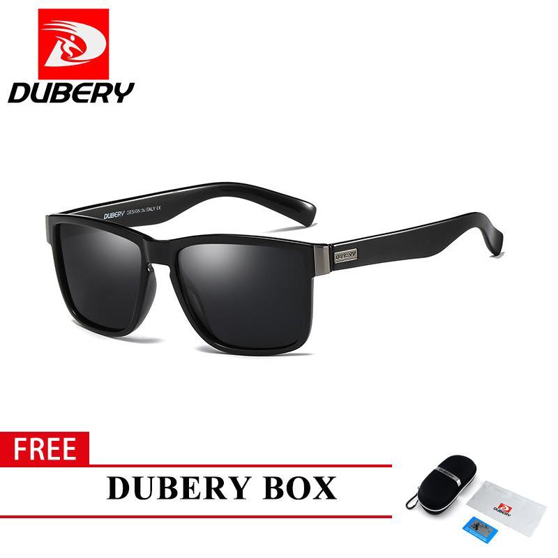 a84ce8431529 Free Shipping COD DUBERY New Men's Polarized Coating Sunglasses Male Sun  Glasses UV400 Black Lens With