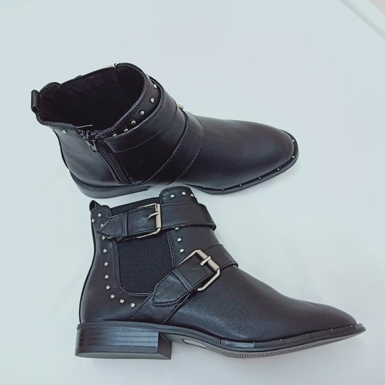 b83116fa7 Korea Women Fashion Leather Shoes Buckle And Rivet SHort Boots  Formal/Casual only size 37