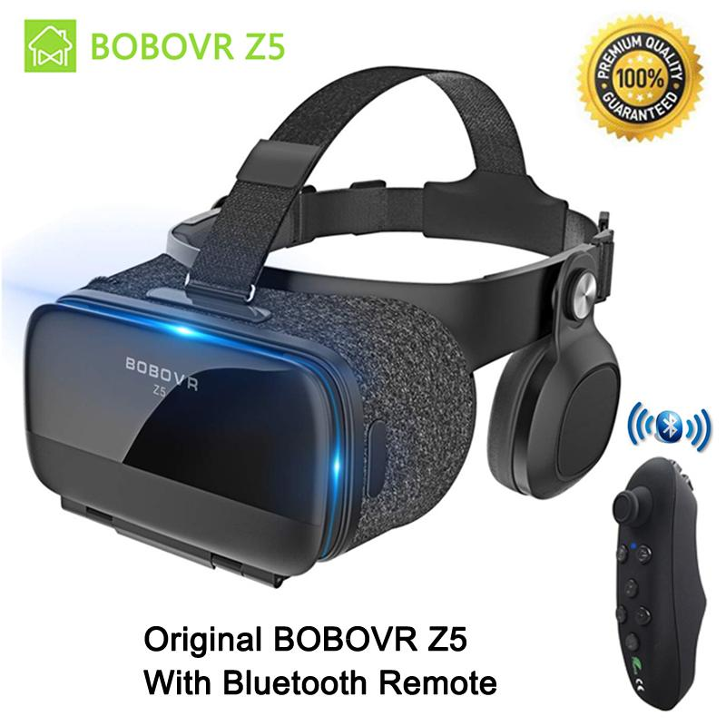 BOBOVR Upgraded Virtual Reality Headset VR Box with Remote Controller for  3D Movies and VR Games - More Lighter VR Headset with Built-in Stereo