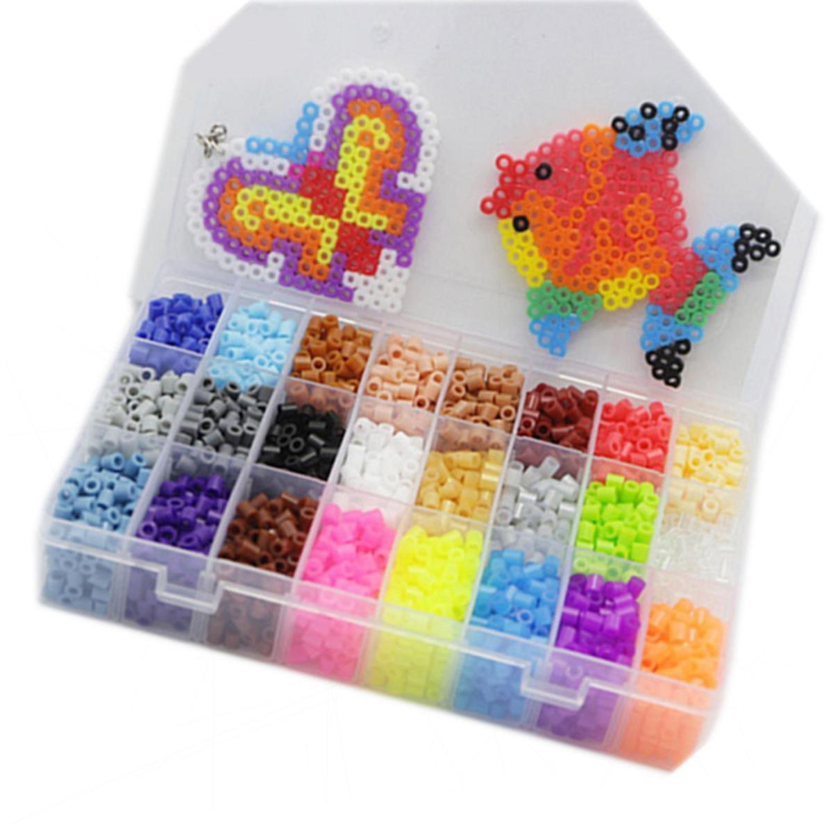 Perler Fuse Beads 3600 Beads Jar Multi-Mix Colors By Tcgbhvkog.