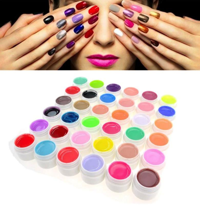 36 Colors Pure Colors Uv Gel For Nail Extension By Happy Choice.