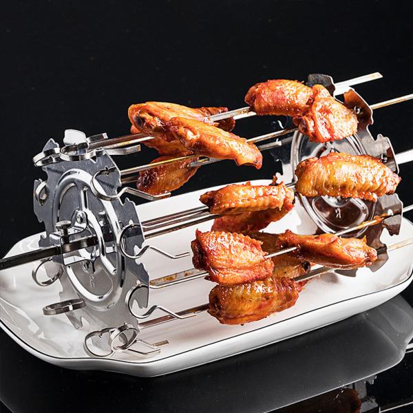 Rau quả Đối với Lò nướng bánh mì Thịt nướng Phụ kiện lò nướng Dụng cụ BBQ Với 10 que Kebab Maker Lồng xiên quay