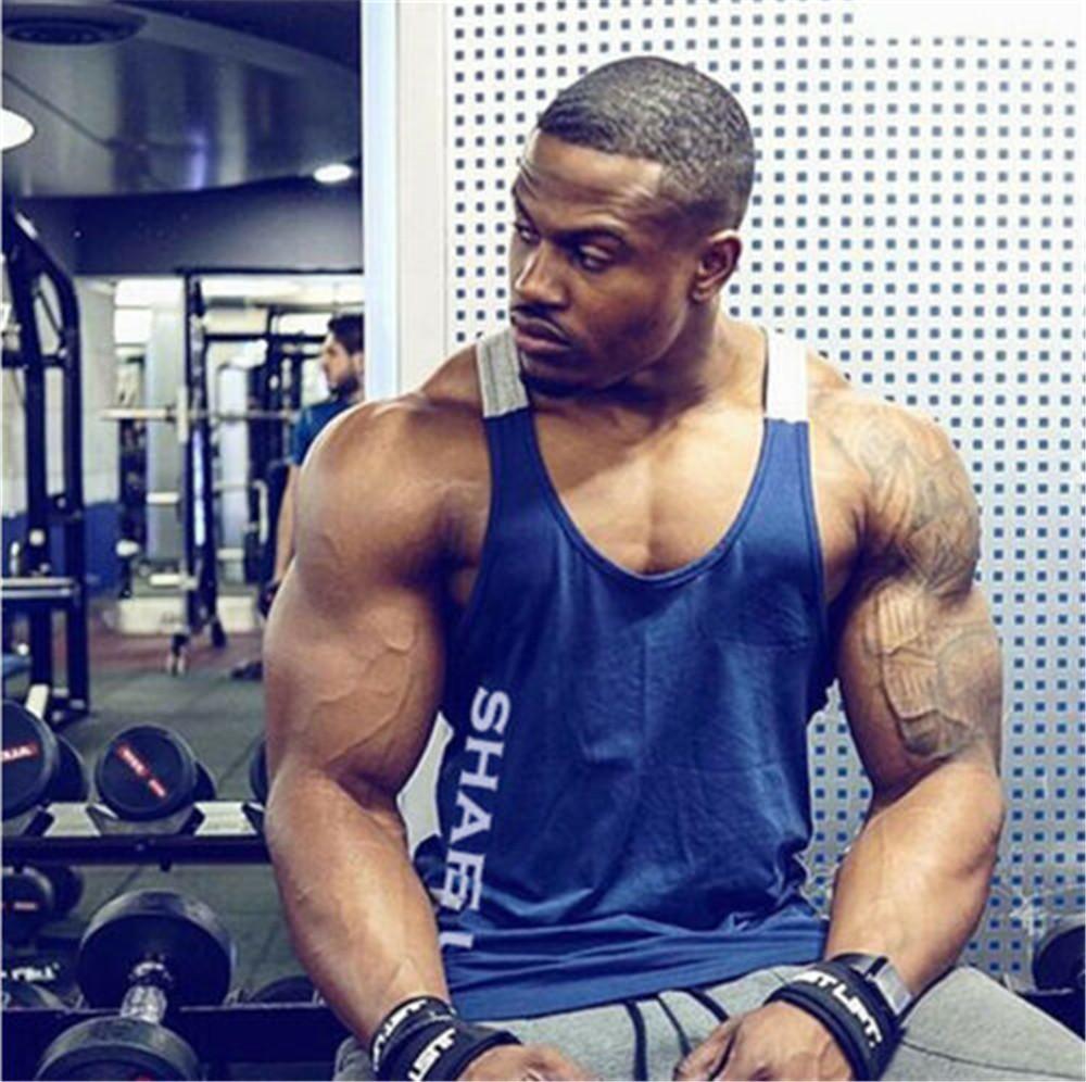 Men/'s Muscle Sleeveless Tank Top Tee Shirt Bodybuilding Gym Sport Fitness Vest