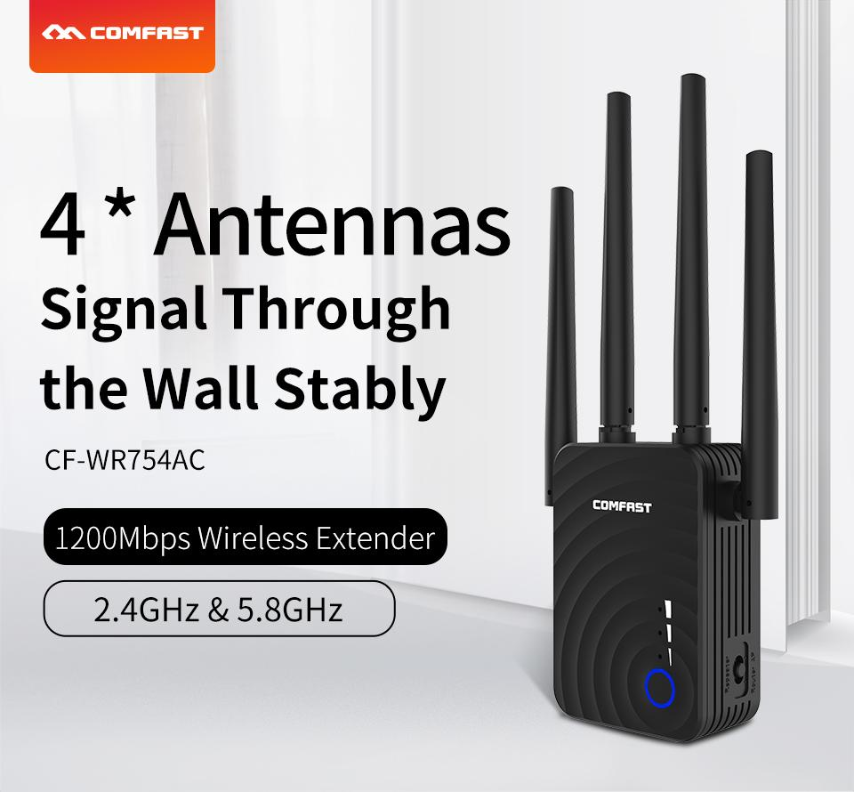 CF-WR754AC 1200Mbps Home Wireless N Router Wifi Repeater 5Ghz Long Wifi Range Extender Booster