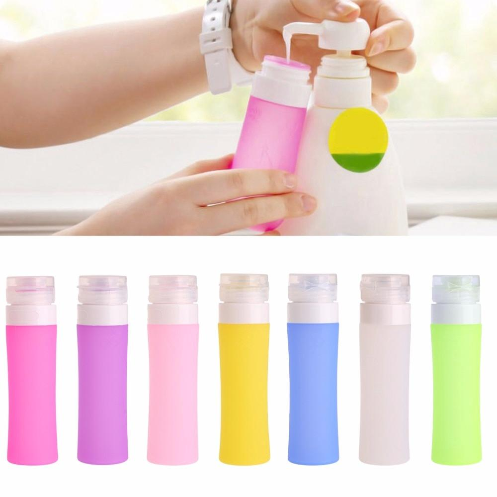 c60414370d Refillable Silicone Travel Bottle Lotion Shampoo Containers-38ml 60ml 80ml