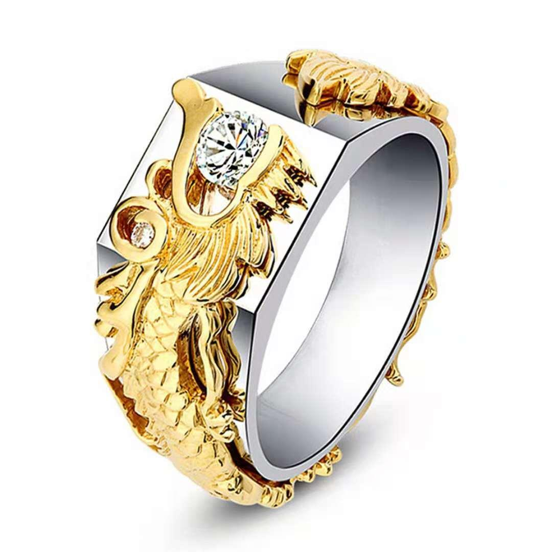 BF Men fashion dragon ring#s34