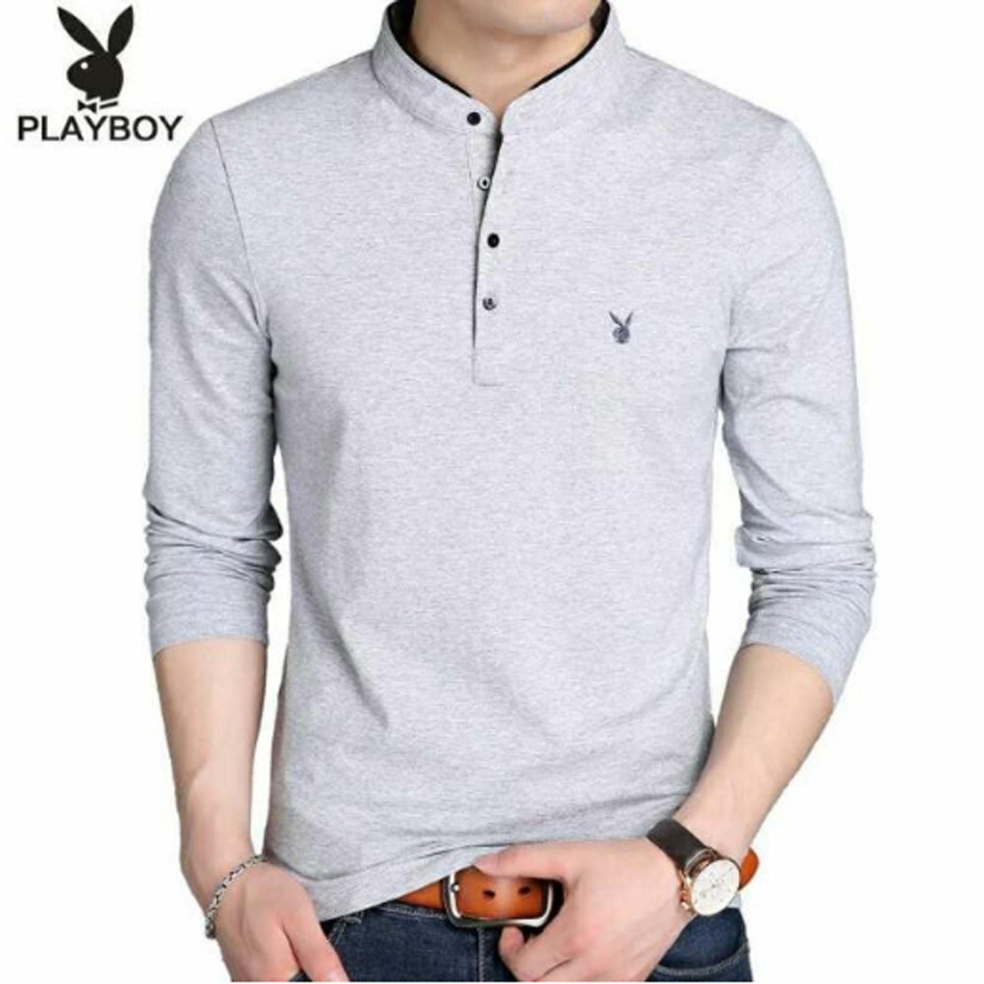 38469629 Mens Longsleeve Medium-Large Cotton Fashion Casual Tops Blouse Shirts Polo  Outfit (Cash on