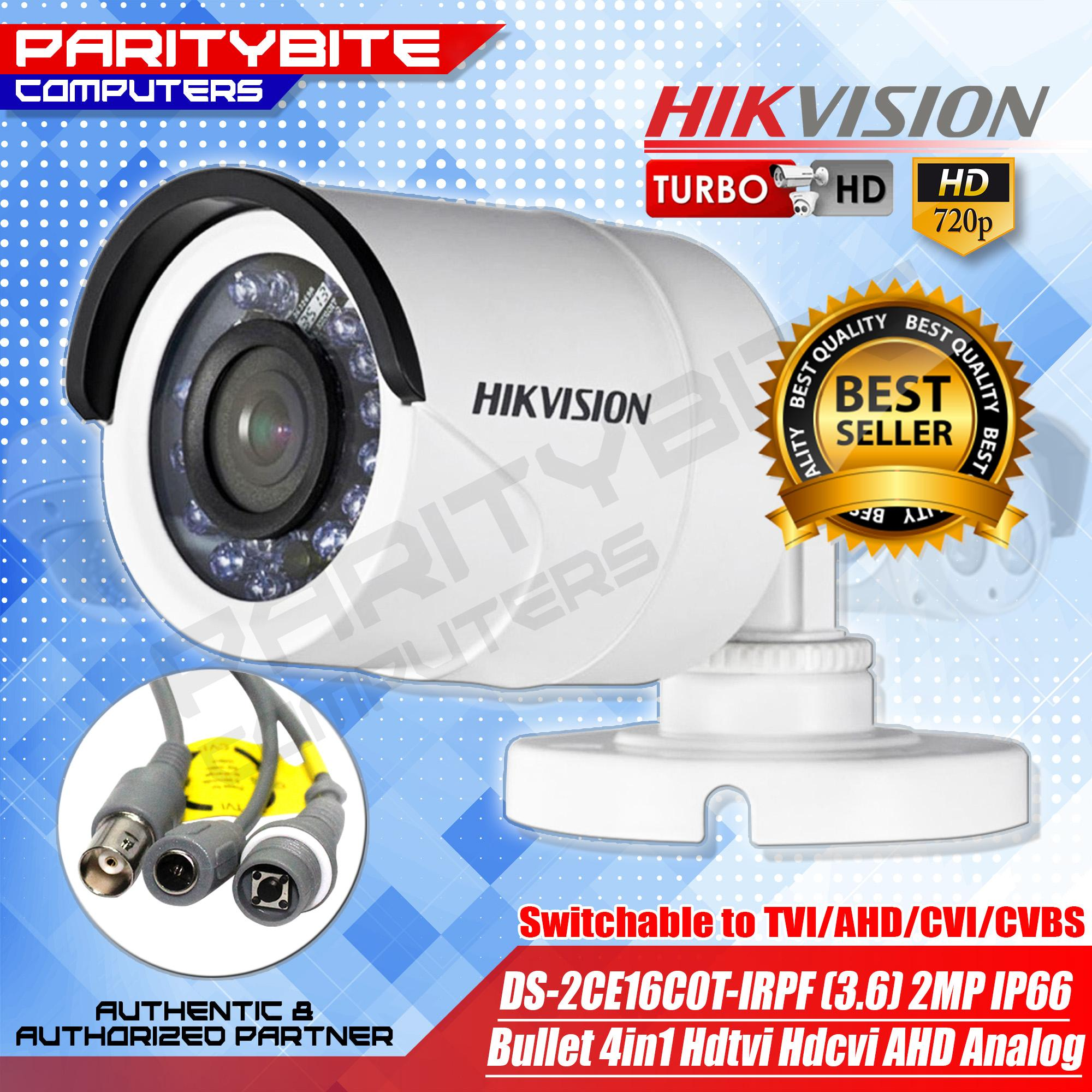 Hikvision DS-2CE16D0T-IRPF(3 6mm)1080P 2MP IR20m IP66 Bullet 4in1 Camera
