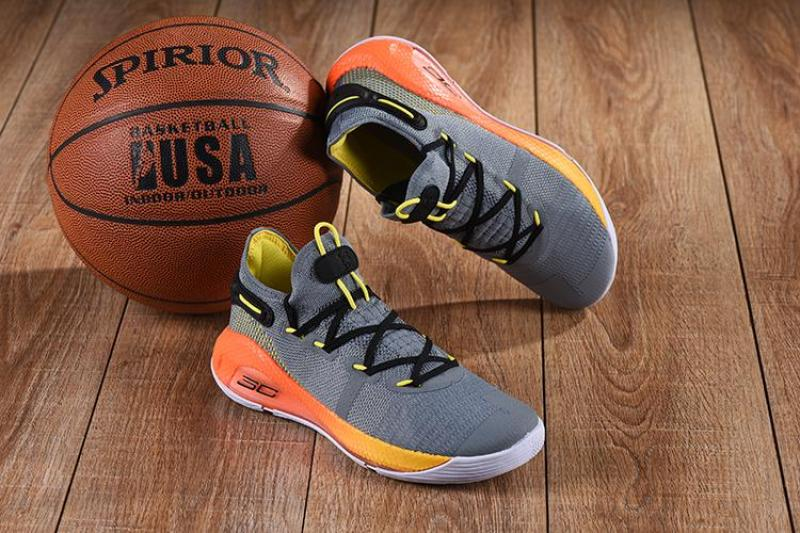bb870ab38565 2019 New arrival Under Armour Curry 6 Cool Grey Orange-Yellow Low Cut Basketball  Shoes