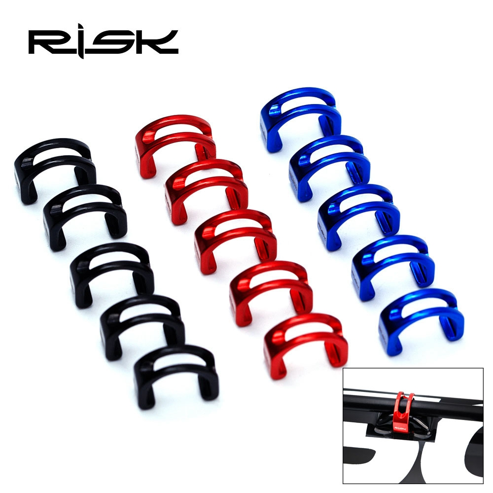 Perfeclan 10Pcs S-Hook Clips Cable Housing Tidy Wire Buckle Fixing Holder Guide for Mountain Road Bike Cycling Bicycle MTB