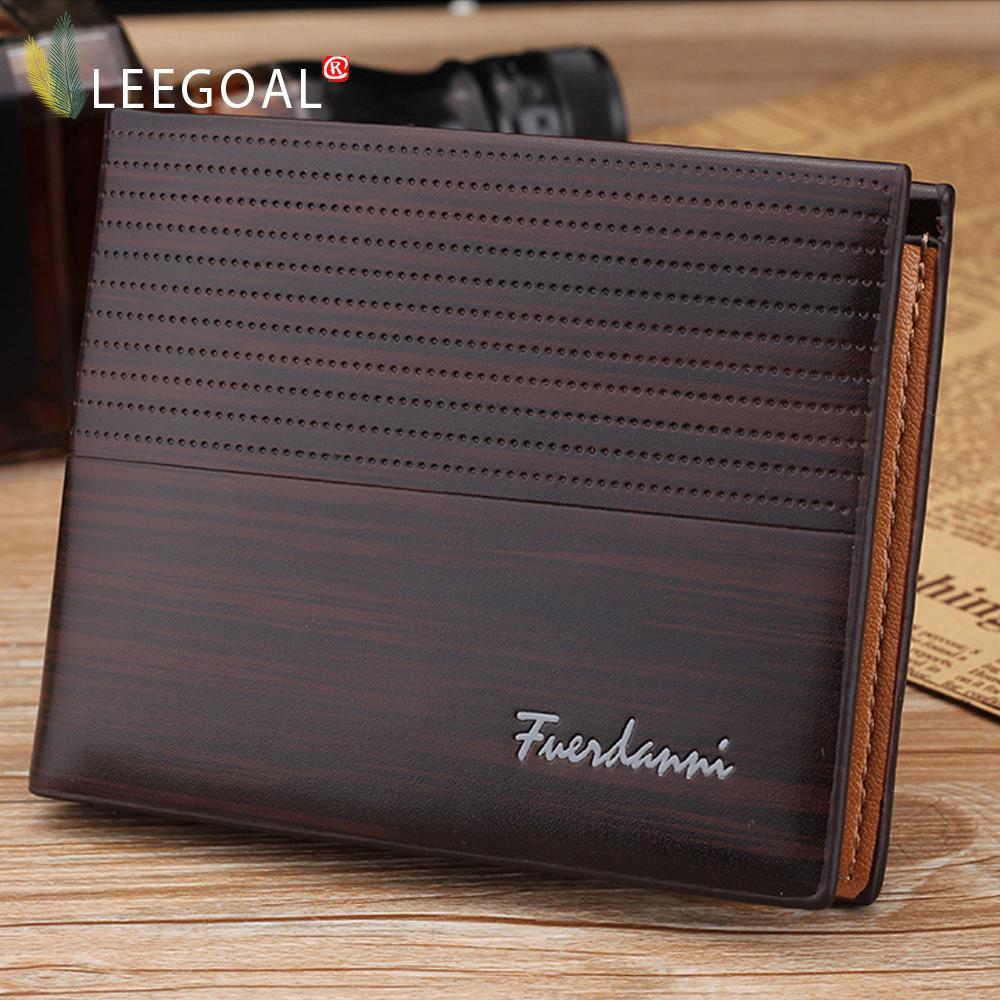 leegoal Men's PU Leather Wallet ,Deep Coffee - intl