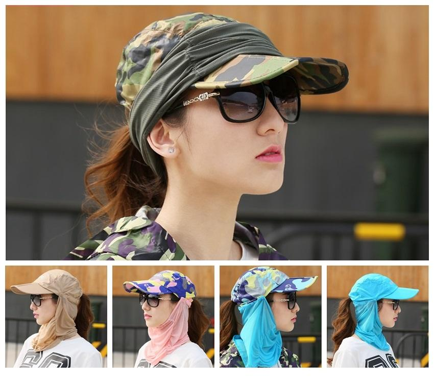 a906fd154de 360 Degree Face Neck Protect UV Sun Hat Foldable Cap Mesh Bucket Outdoor  Sport Cycling Hiking