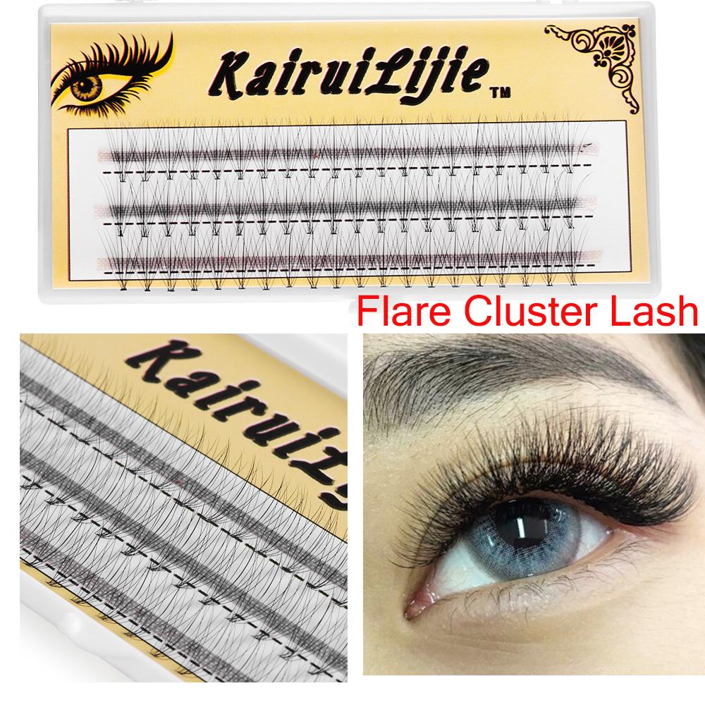 【humans Fashion】skonhed 60 ยืนต่อขนตาส่วนบุคคล Flare Cluster Eyelashes 10d 20d Soft Natural Long Eyelashes Handmade 0.05 C.