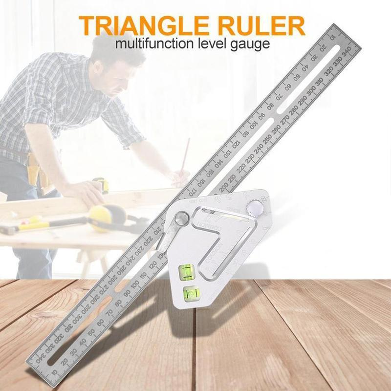 Woodworking Ruler Multi Function Angle Measuring Ruler Q7Z1