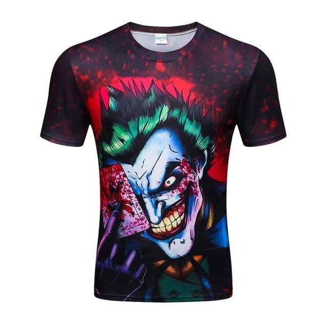 710850d42cfb 2017 new the Joker 3d t shirt funny comics character joker with poker 3d t-