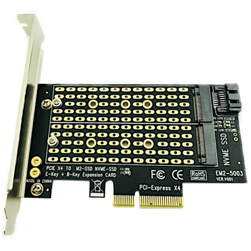 Pcie To M2/M.2 Adapter M.2 Ngff To Desktop Pcie X4 X8 X16 Nvme Sata Dual Ssd Pci Express Adapter Card
