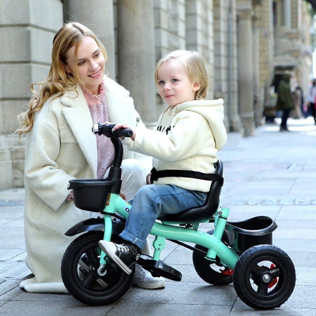 Cool Baby Tricycle Bike For Kids With Guide Assist Stroller With Safety Bar By Bowei.