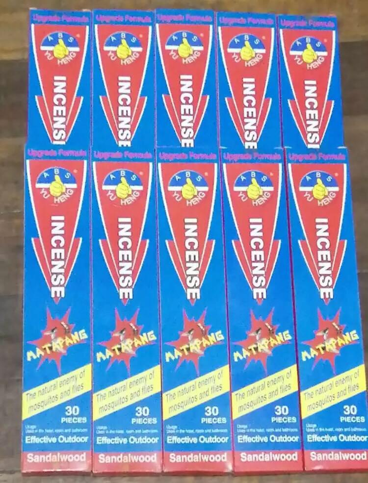 ( Set of 10 boxes or 300 ) Incense Sandalwood Incense for Flies and  Mosquitoes STICKS KILLS FLIES AND MOSQUITOS very good