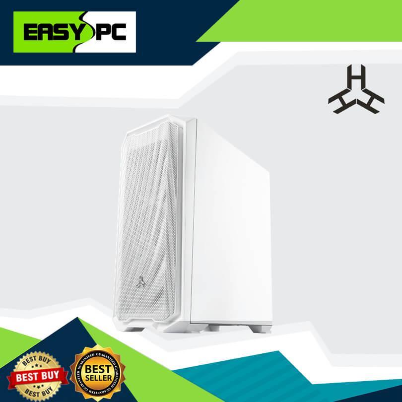 Rakk Haliya ATX Gaming Case White Rakk Mid Tower Tempered Glass Computer  Casing, High grade TG PC Case, Compatible for micro ATX, ATX and eATX