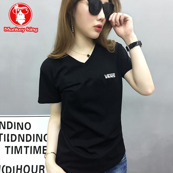 Monkey King V neck T-shirt for Womens on sale Tees Tops Unisex a3987797f