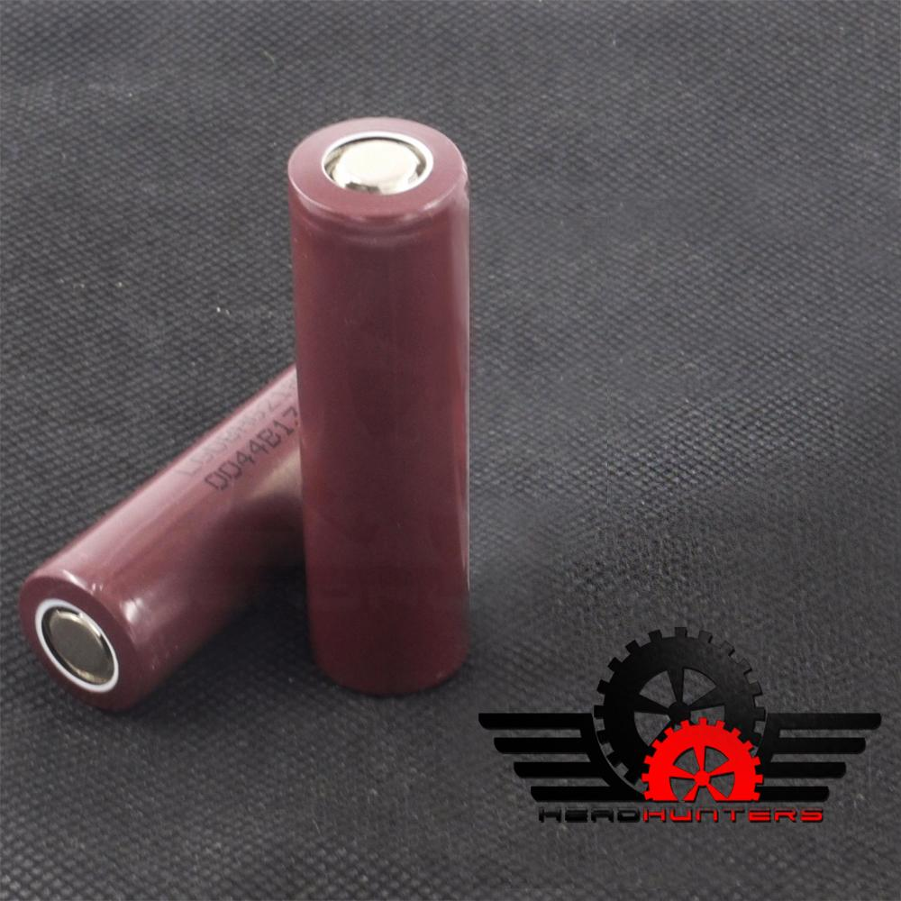 Head Hunters Lg Choco 18650 3000mah Flat Top Rechargeable Battery Set Of 2 By Head Hunters.