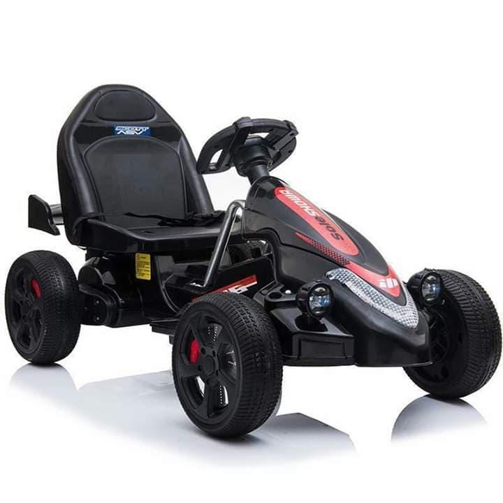 Go Kart Kids Ride On Car Racing Toy Cart Chargeable (black, Red, Blue) By On-Line Bazaar.