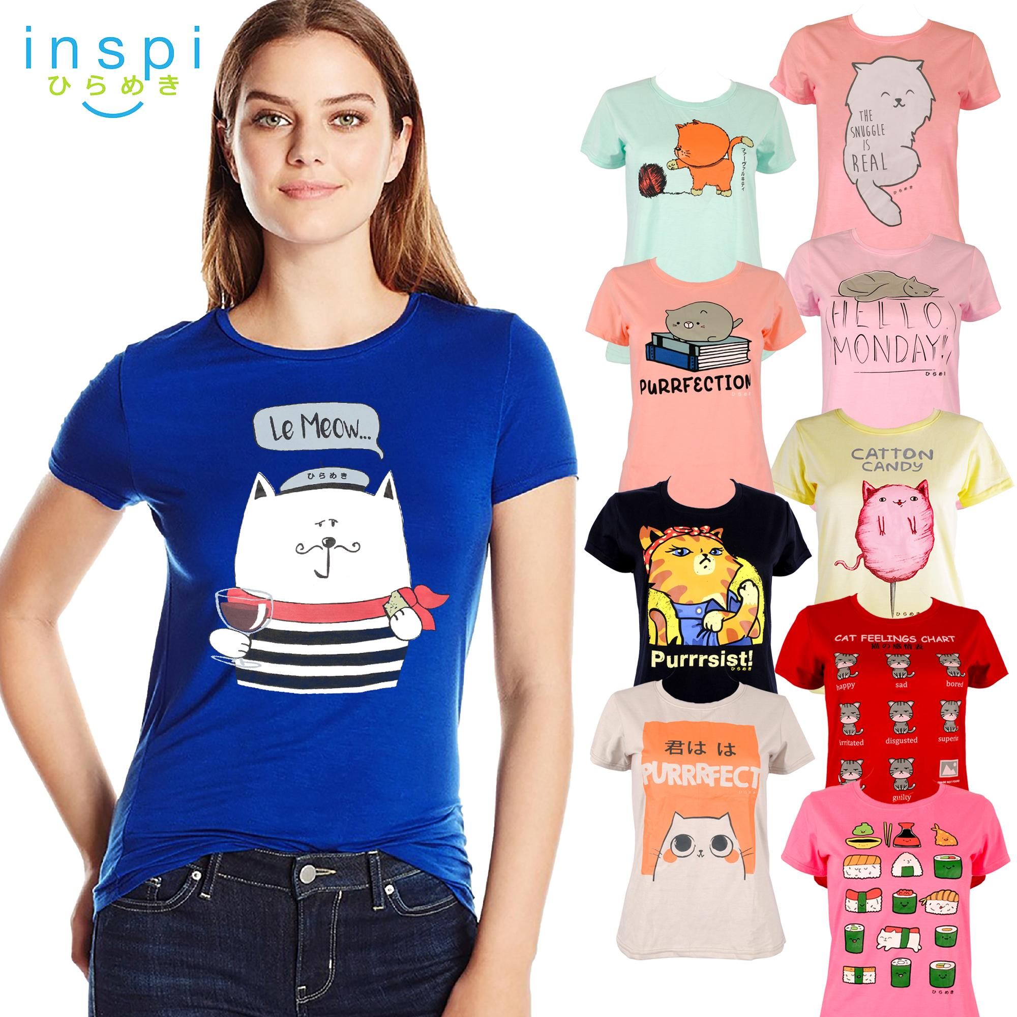 2e7739d916acb5 INSPI Tees Ladies Neko Collection tshirt printed graphic tee Ladies t shirt  shirts women tshirts for