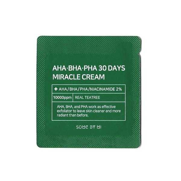 Image result for SOMEBYMI AHA BHA PHA 30 Days Miracle Cream Sample Pack 10ea