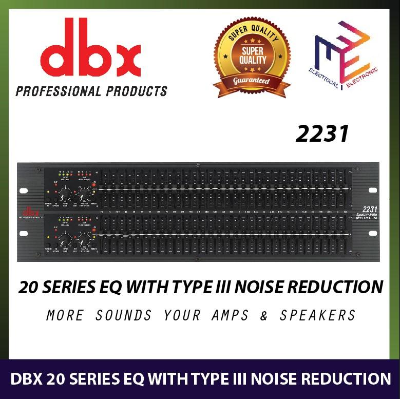 DBX 2231 20 SERIES Graphic Equalizer/Limiter with Type III Noise Reduction