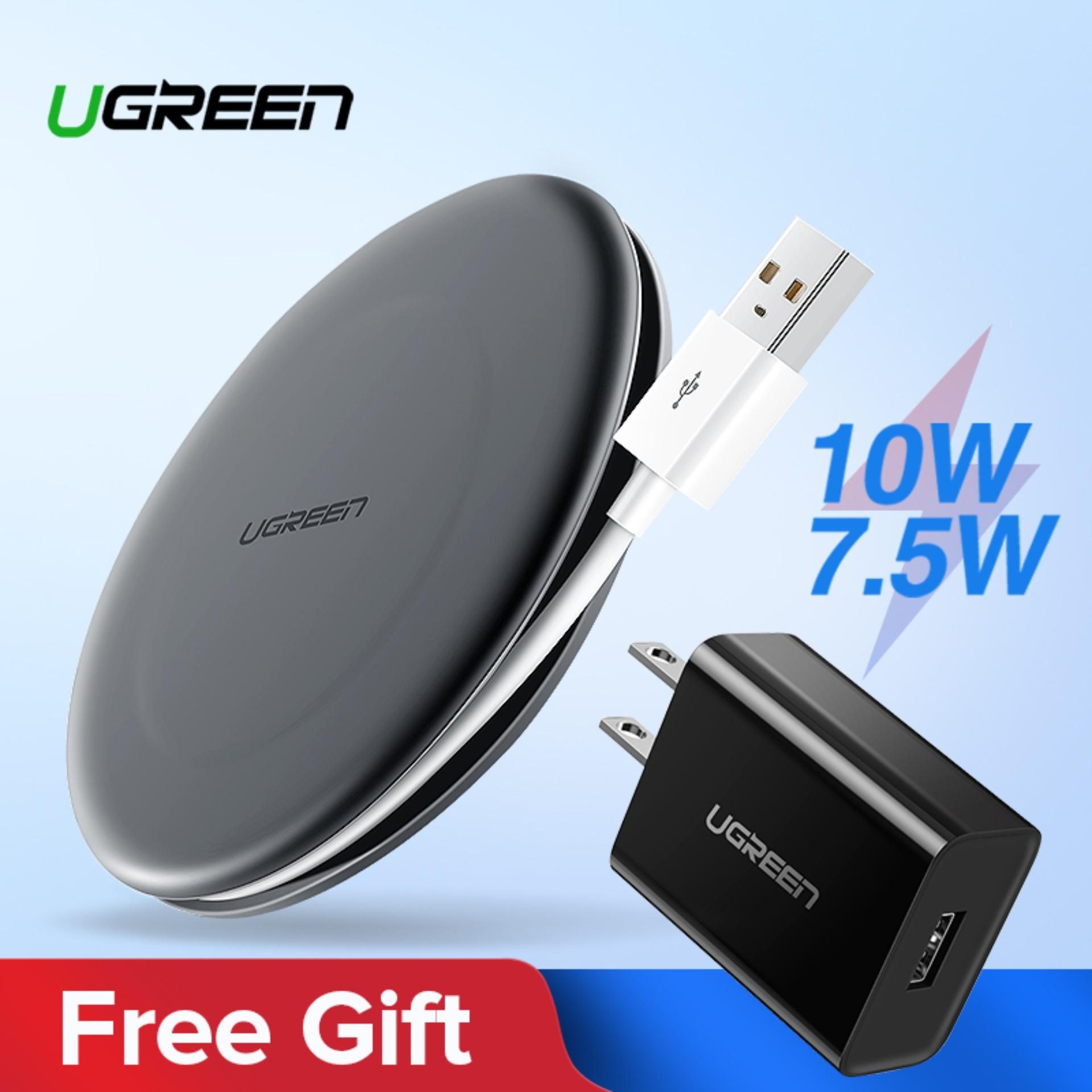 【Free QC3 0 Quick Charger】UGREEN Wireless Charger 10W 7 5W Qi Wireless  Charging for xiaomi mi 9 iPhone X XS 8 XR Samsung S10 S9 S8 Note 9 Huawei