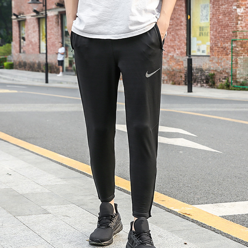 NIKE Nike Men's Trousers 2019 Summer New Style Running Training Pants Breathable Shut Skinny Trousers AA0691 010