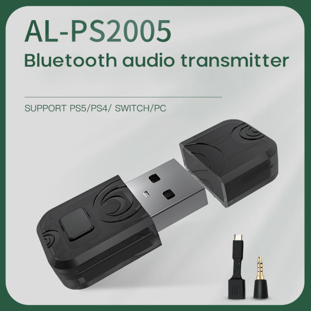 Bộ Chuyển Đổi Tai Nghe Không Dây Bluetooth Tsunami Ps5 Bộ Chuyển Đổi Bộ Thu Bluetooth Cho Máy Tính Pc Ps4/Switch, Bộ Thu Phát Bluetooth Không Dây Usb Âm Nhạc Âm Thanh Dành Cho-Ps5/-Ps4/-Switch/Pc.