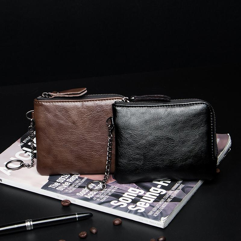 424852e5f Fashion Men Small bag bags Korean Style New Style Hide Substance Small  Bi-Fold Wallet