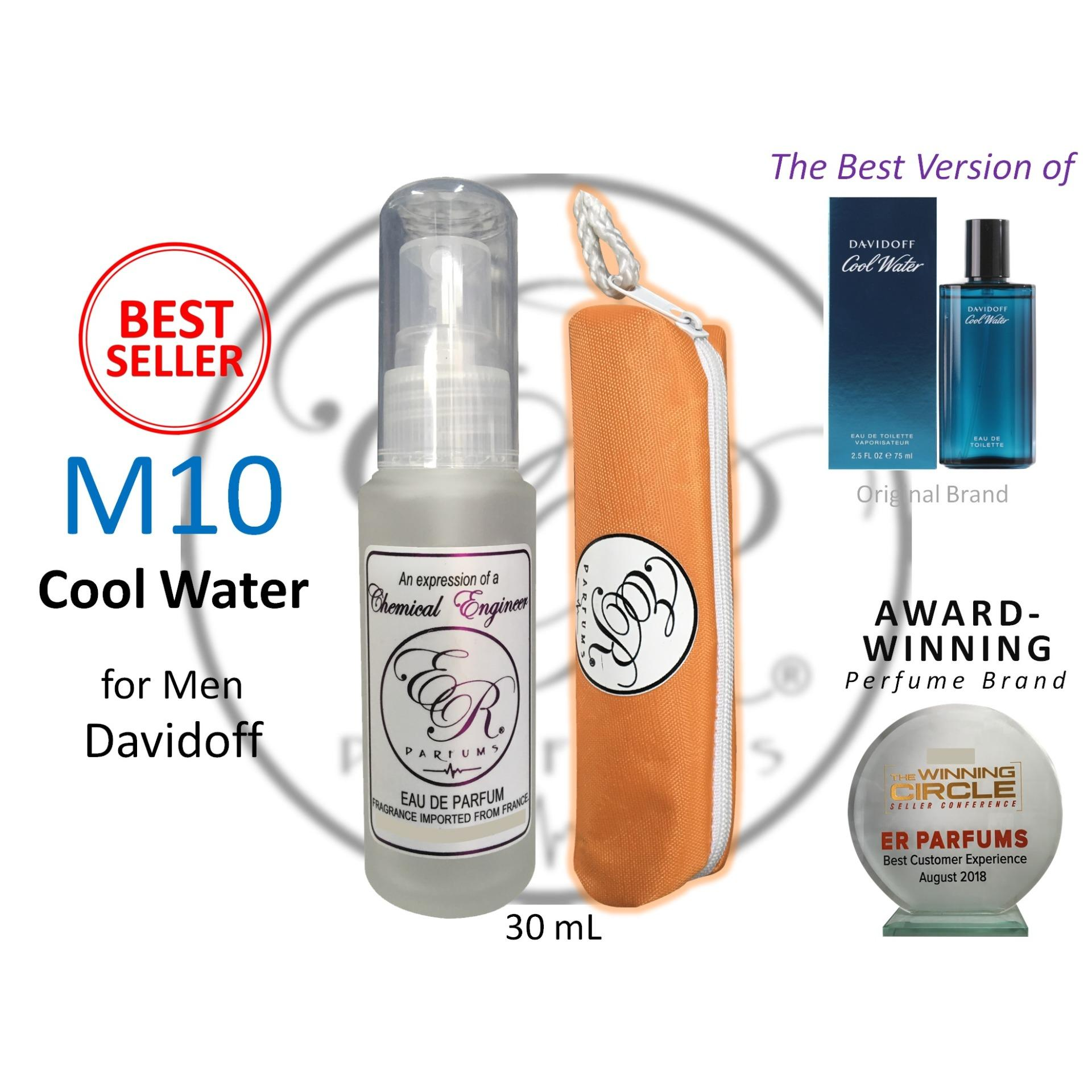 ER PARFUMS M10 Cool Water for Men by Davidoff 1 piece 30 ml perfume with free pouch - BEST VERSION product preview, discount at cheapest price