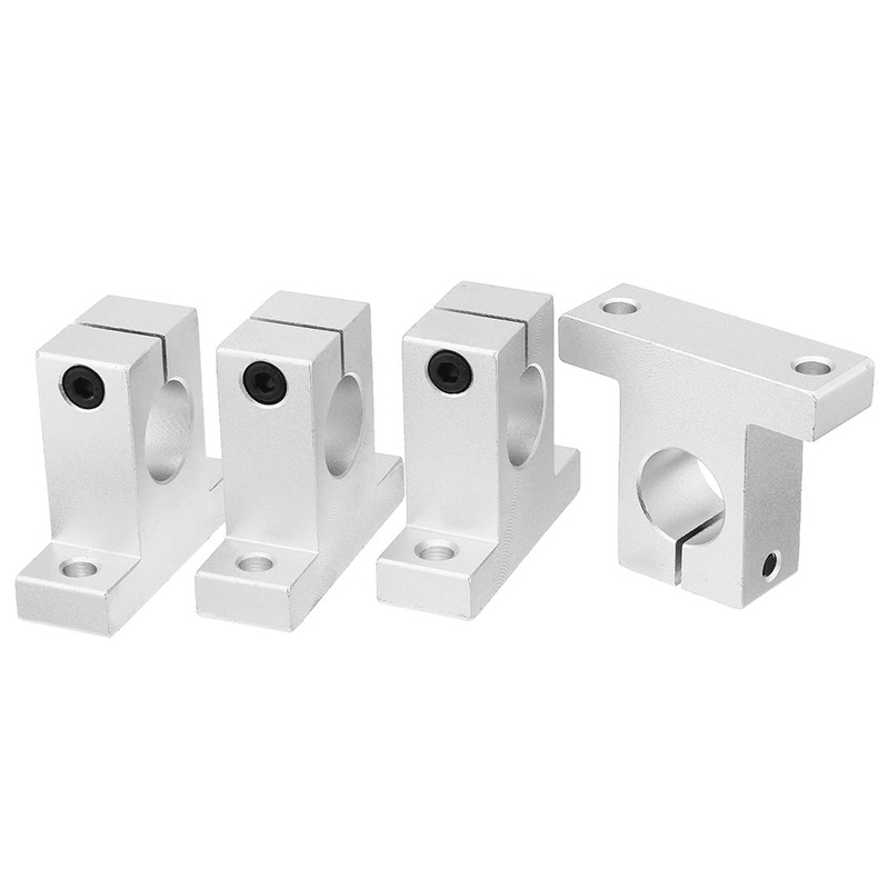 4Pc Linear Optical Axis SK Vertical Support Aluminum Alloy Bearing Frame Polished Rod Frame SK20