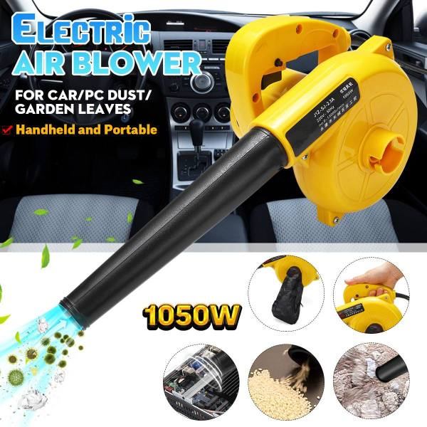 1050W 220V Electric Air Blower Portable Handheld Dust Collector Fan Spray Vacuum Cleaner Car Garden Studio Leaf Blowing Remover