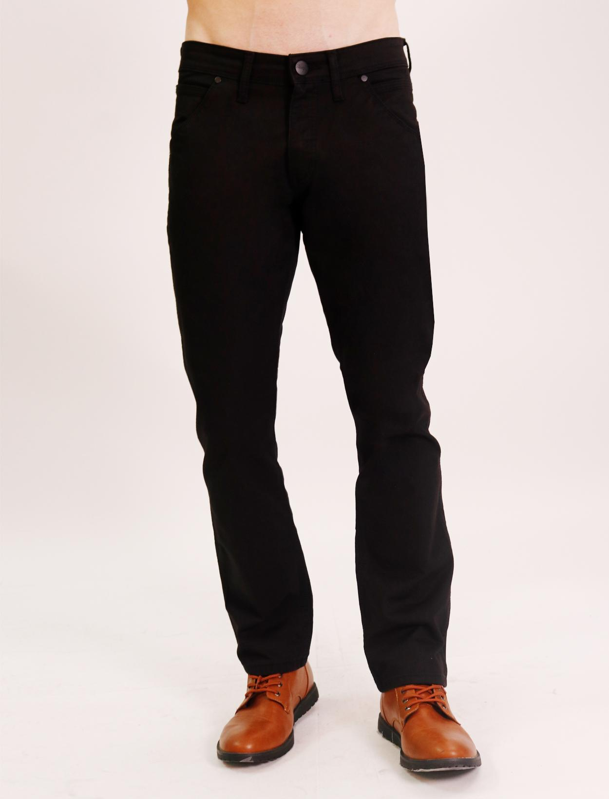 09885c68b58 Wrangler Spencer Low Waist Slim Straight Five Pocket Jeans with Bedford  Stretch Fabric in Black
