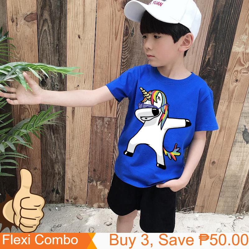 9c521ca67 Tshirt for Unisex kids Swag Unicorn t-shirt Boy's T-shirt Girls Cartoon  Pattern T-shirt Children Summer Short Sleeves 100% Cotton Tee K1905