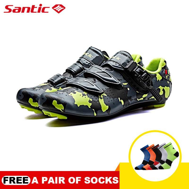 4284907bb04 Santic Pro Men Road Cycling Shoes Nylon Soles High Resistance PU Upper Vamp  Shoes Self-